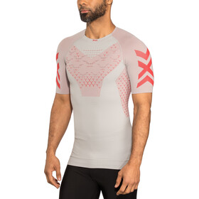 X-Bionic Twyce G2 Camiseta running manga corta Hombre, dolomite grey/sunset orange